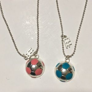 Other - 2 Best Friends Forever Soccer Ball Necklaces